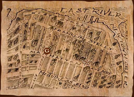 Map to East River Tattoo